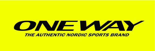 ONE WAY logo black text yellow